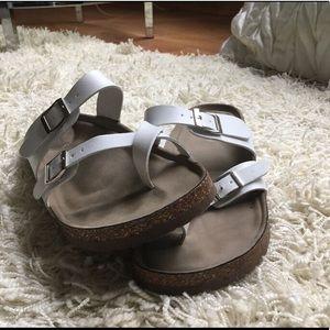 White open sandals
